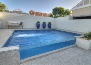 Subiaco Concrete Plunge Pool Glass Front