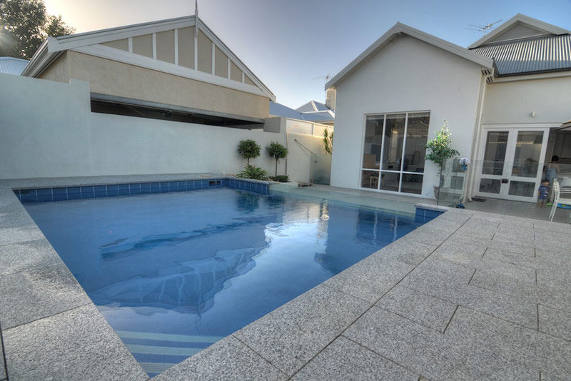 Subiaco Concrete Plunge Pool Granite Headers Cross Corner Steps