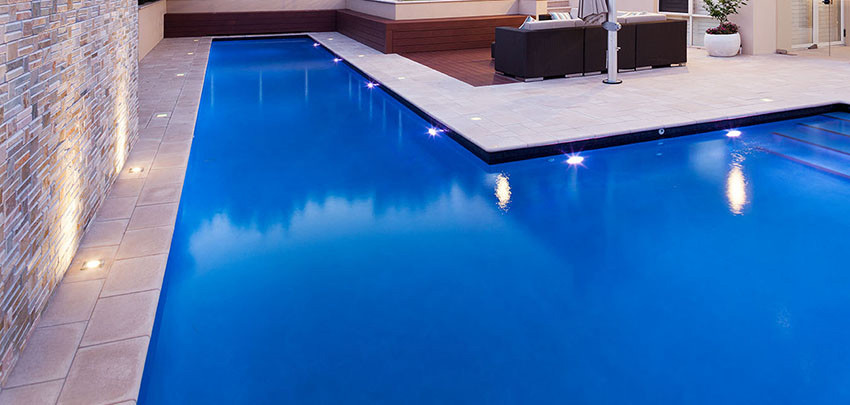 concrete pools - lap pool with swim out