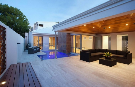 Attadale Concrete Geometric Pool and Alfresco Landscaping