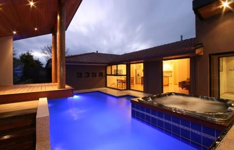 Kardinya Concrete Pool Spa Combo with cabana