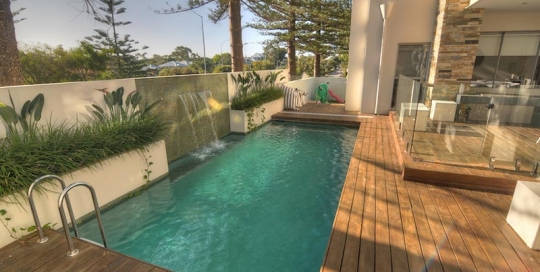 Cottesloe Concrete Geometric Pool with Decking Surround