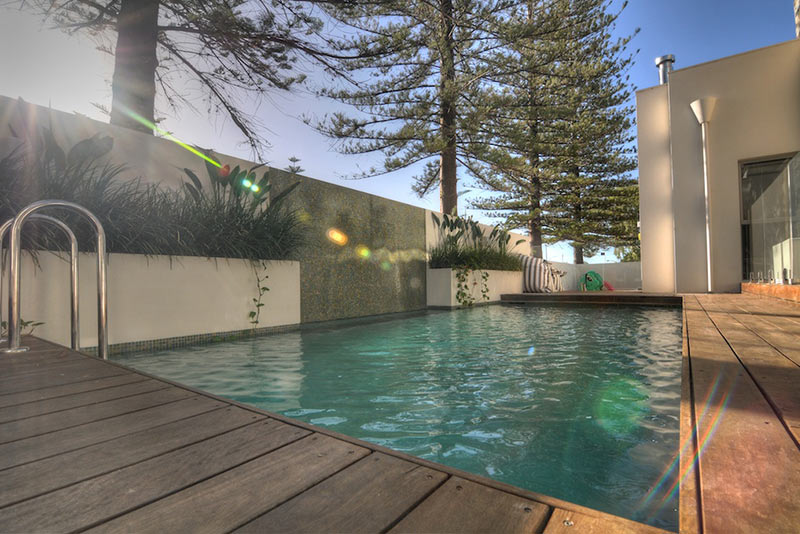 Cottesloe Concrete Geometric Pool with waterblade water feature