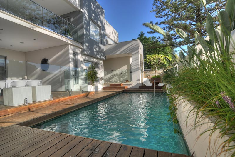Cottesloe Concrete Geometric Pool with truquoise plaster