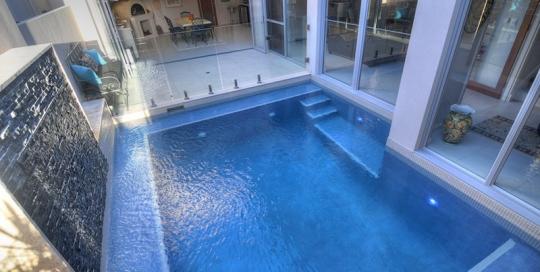 Swanbourne Concrete Plunge Pool Benching