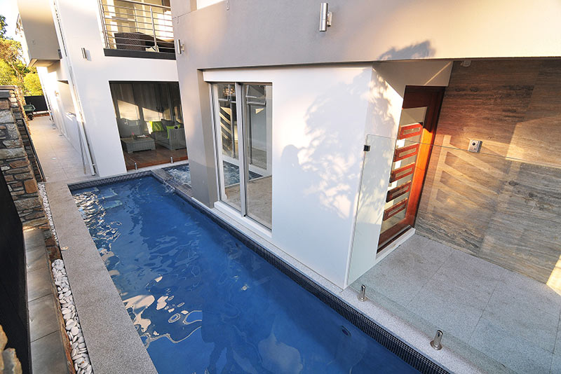 Woodlands Concrete Pool Spa Combo with Lap Pool