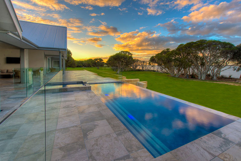 Dawesville Concrete Infinity Edge Pool - Step Entry