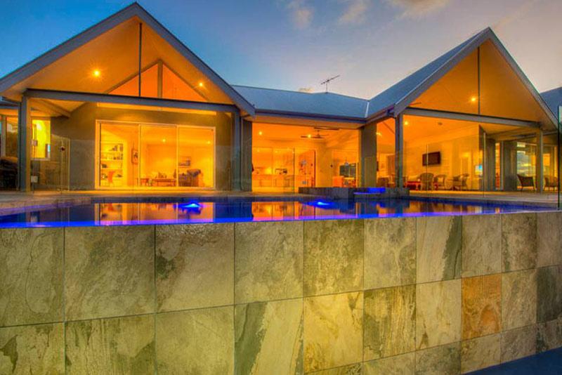 Dawesville Concrete Infinity Edge Pool - Spillover
