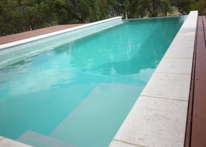 Baldivis Concrete Infinity Edge Pool - Entry Steps