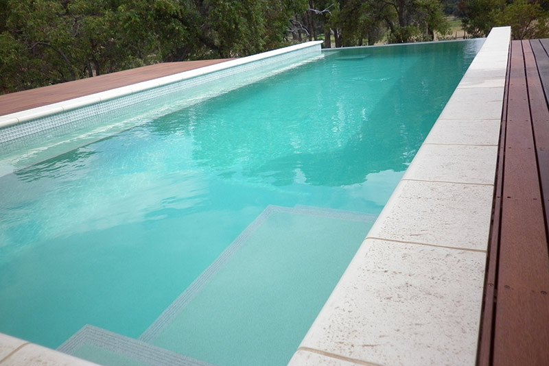 Baldivis Concrete Infinity Edge Pool - Entry Steps