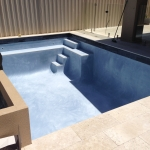 swimming pool interiors after plaster