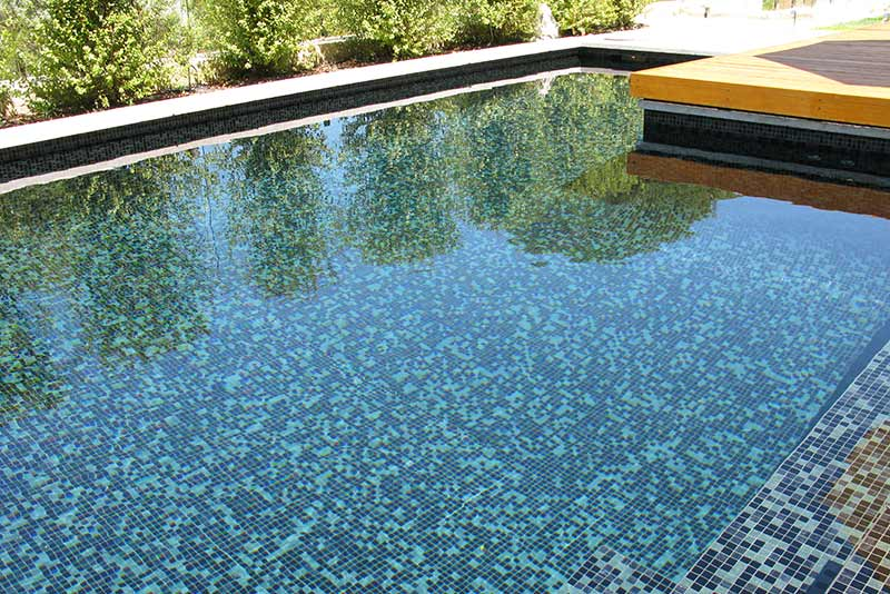 Minim Cove Concrete Geometric Pool Fully Tiled Glass Mosaics