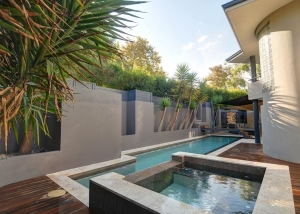 Applecross Concrete Lap Pool with Concrete Spa
