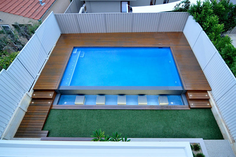 Bicton Concrete Geometric Pool with Vanishing Edge
