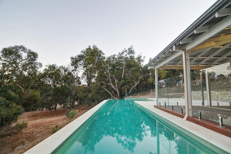 Hovea Concrete Infinity Edge Pool with Lap Pool Swim Out