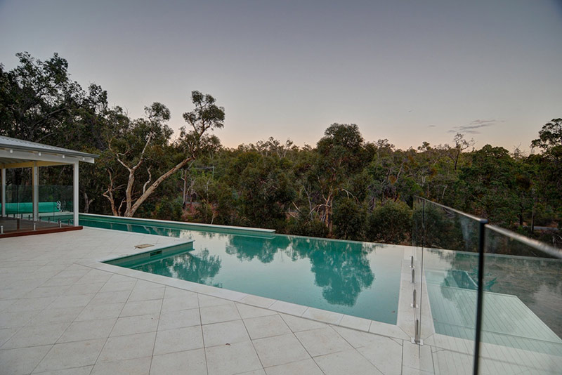 Hovea Concrete Infinity Edge Pool with Lap Pool