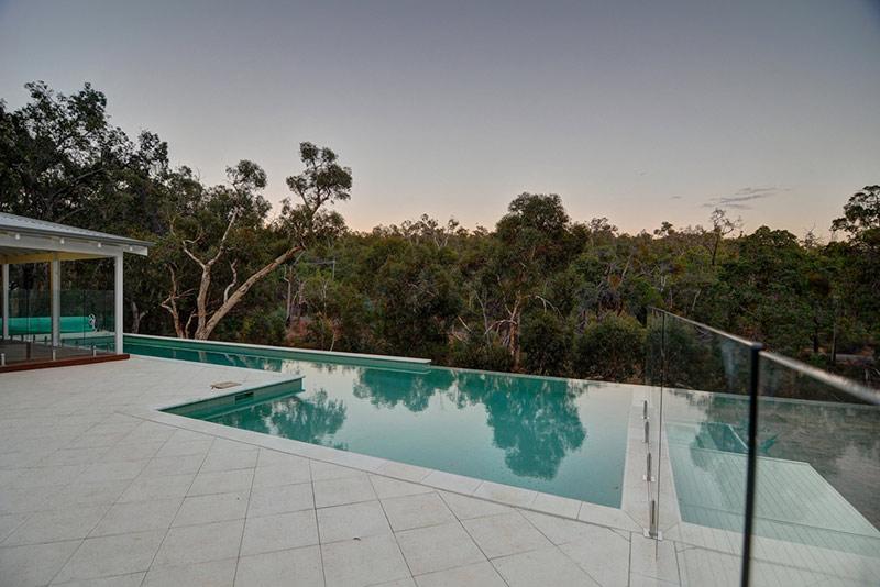 Hovea Concrete Infinity Edge Pool with Lap Pool