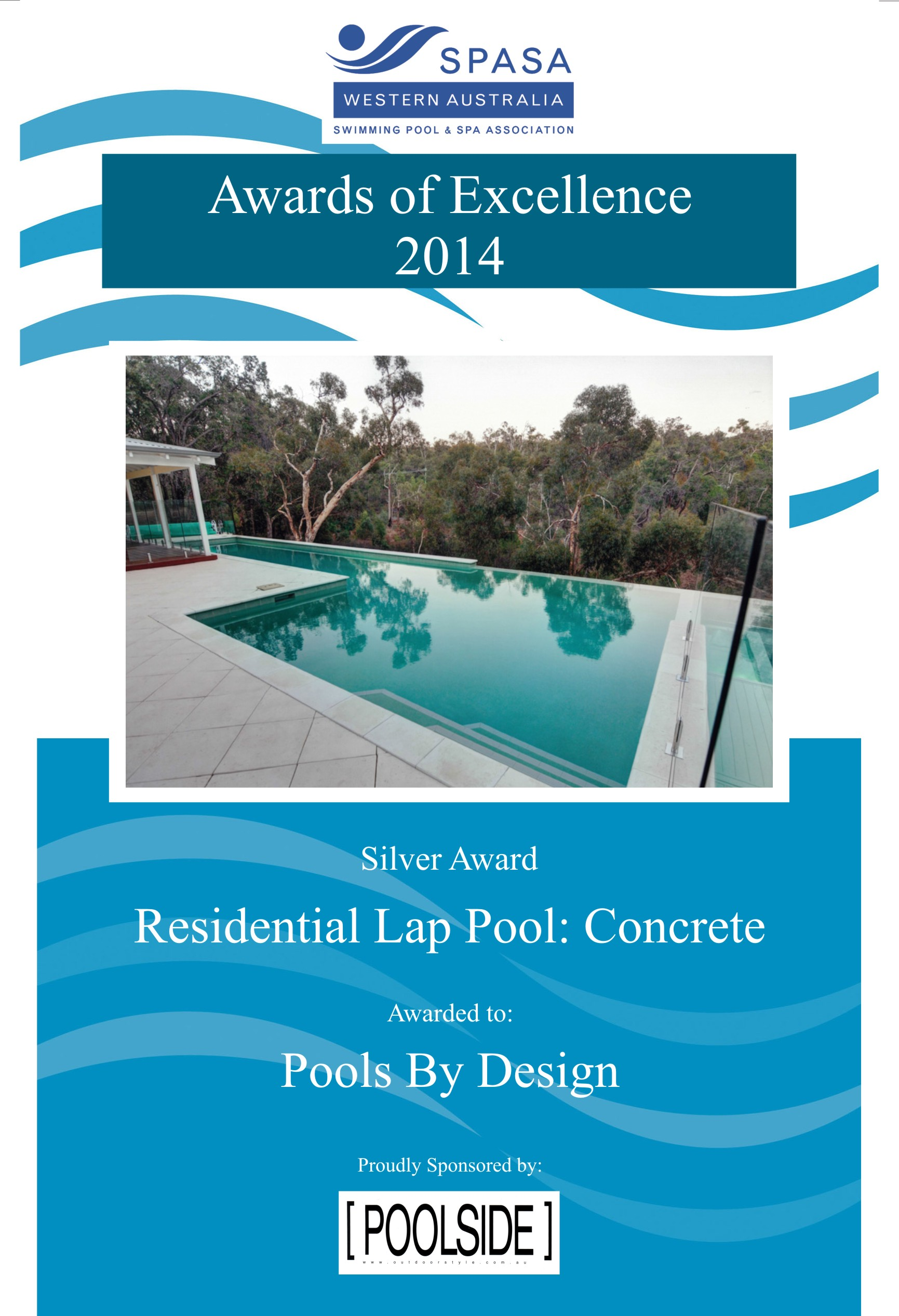 Pools by design 2014 spasawa award winners pools by for Pool design awards