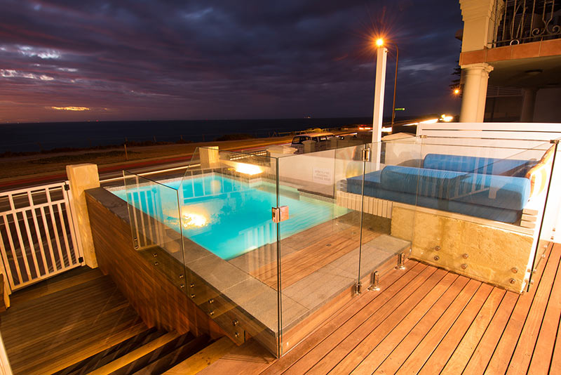 Cottesloe Beach Concrete Plunge Pool and Landscaping