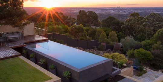 Infinity edge archives pools by design concrete pool for Pool show perth 2015