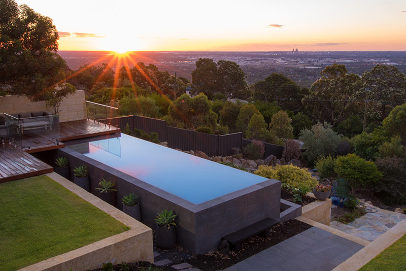 Lesmurdie Concrete Infinity Edge Pool   Pool Of The Year Award Winner  Concrete Pool Designs