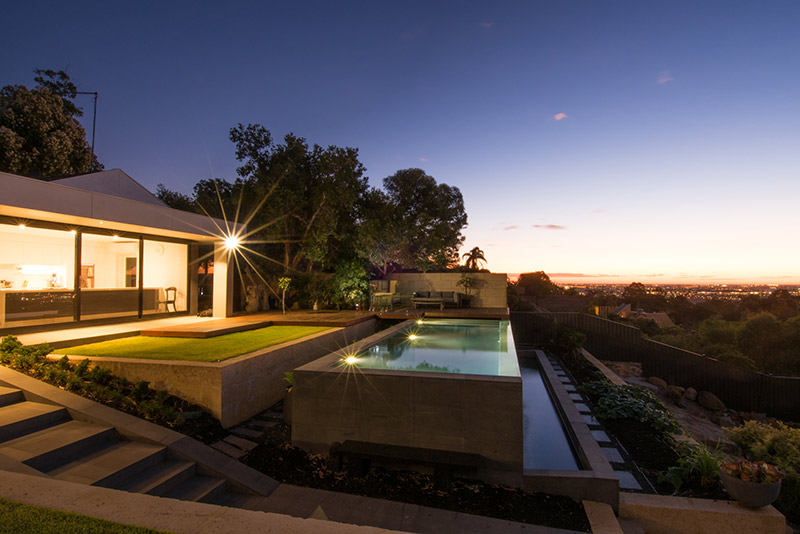 Lesmurdie Concrete Infinity Edge Pool - Out of Ground Pool