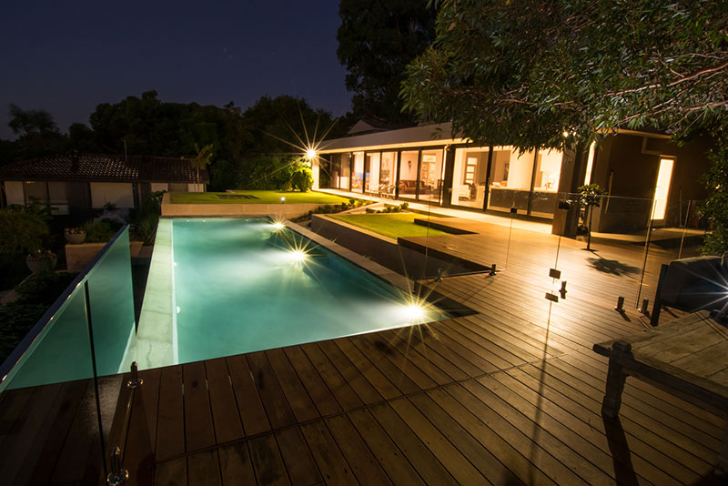 Lesmurdie Infinity Edge Pool with Decking