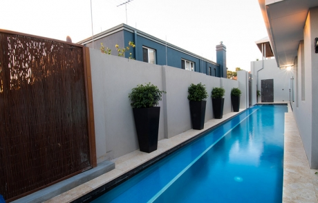 Applecross Concrete Lap Pool with Planters