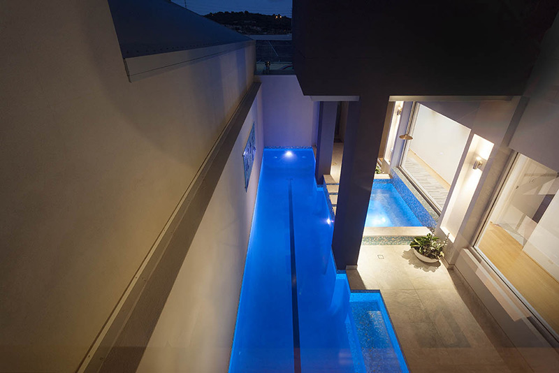 Port Coogee Pool and Spa - Lap Pool with Lane Tile