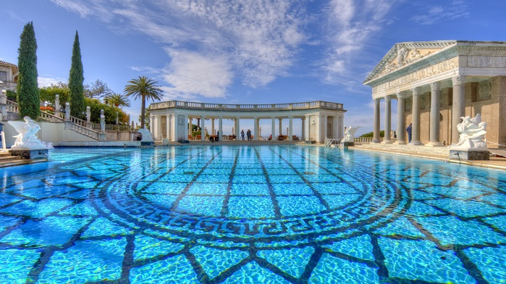 most expensive pools - hearst castle outdoor