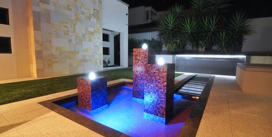 Kardinya Water Feature - Feature Piers
