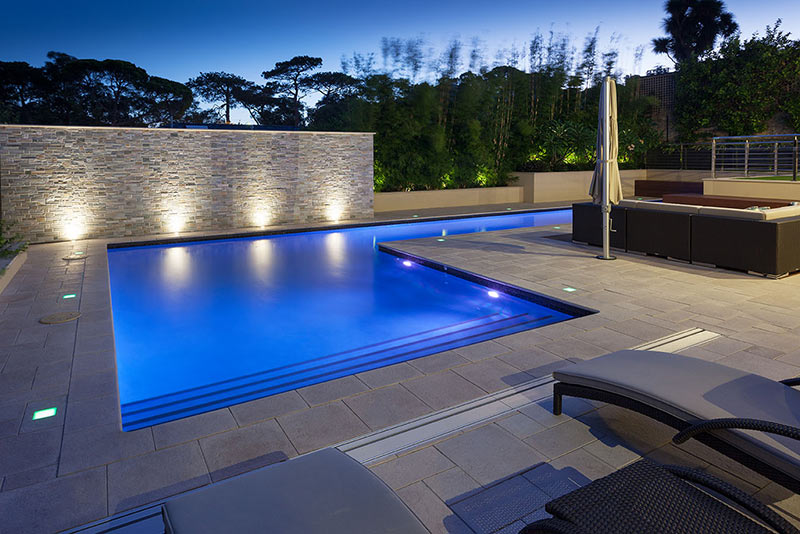 Floreat Concrete Lap Pool - Feature Wall and Pool Entry