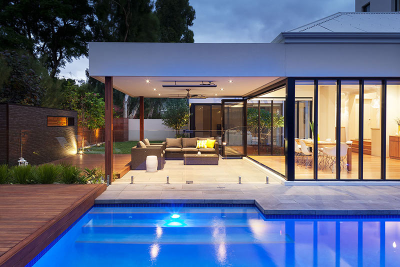 Nedlands Concrete Geometric Pool - Pool and Alfresco