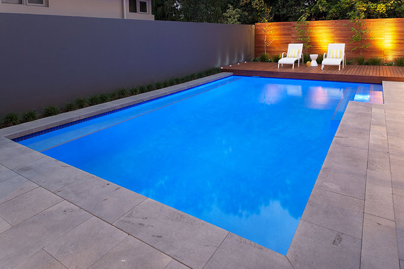 Nedlands Concrete Geometric Pool - Granite Coping