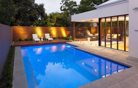 Nedlands Concrete Geometric Pool - Sun Deck