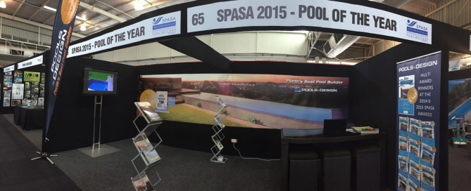 pool spa and outdoor living expo - pools by design