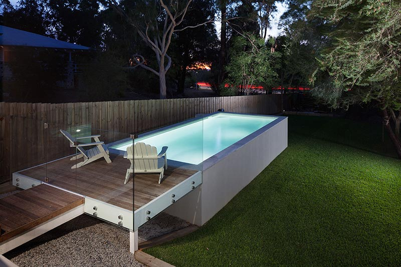 Darlington Concrete Geometric Pool   Above Ground With Platform