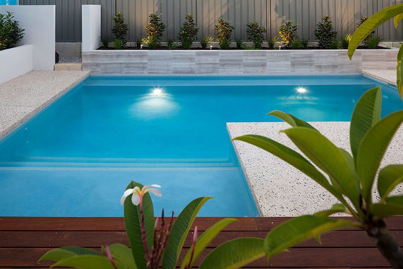 Wembley Downs Concrete Geometric Pool with Decking