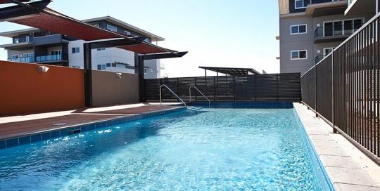 Baynton Apartments Concrete Geometric Pool for Apartment Block