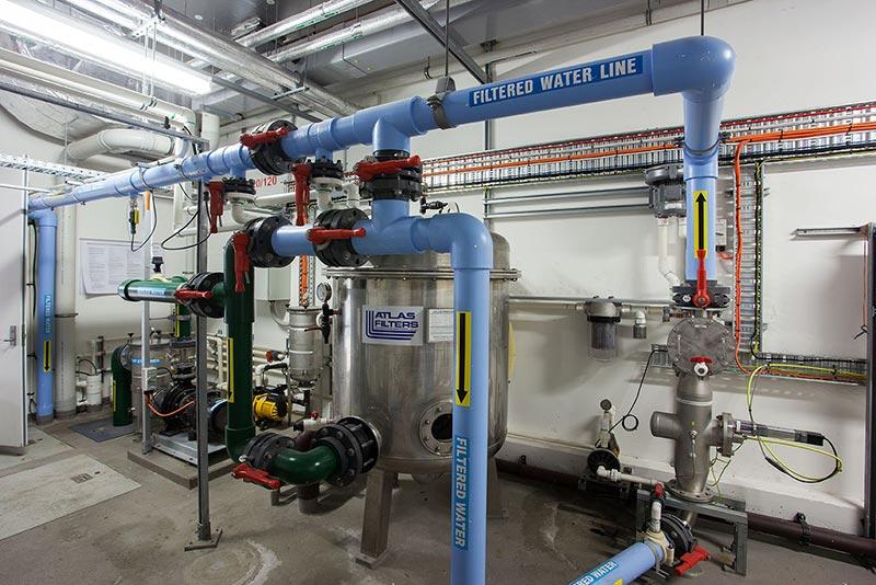 Midland Hydrotherapy Pool Hydraulics Plant Room