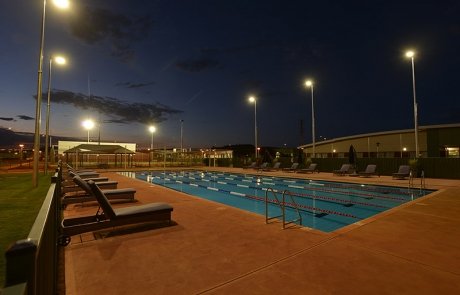 Roy Hill Concrete Lap Pool - Night