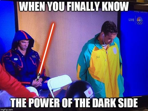 Olympic swimming - phelpsface