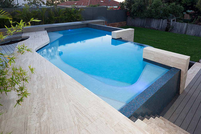 Infinity Edge Freeform Pool Design