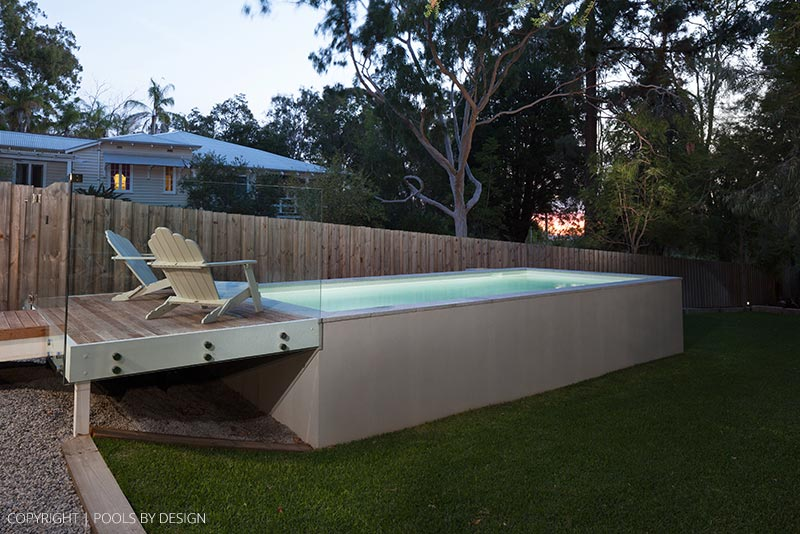 Geometric Above Ground Pool Design in Darlington
